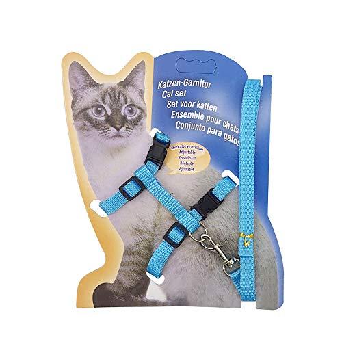 IWILCS 120cm Katzengeschirr und Leine, Traktionsgurt, Haustier Traktionsseil, Ausbruchsicher, verstellbar, Brustgurt für kleine, mittelgroße und große Kätzchen