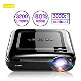 LED Beamer HD 3200Lumen LESHP Video Projektor Heimkino Beamer Full HD...