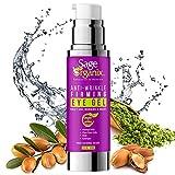 Sage Organix Lifting Firming Eye Gel Serum, 75% Organic Under Eye Serum for Dark Circles, Wrinkles, Puffy Eyes, Under Eye Bags, Depuffing Eye Serum + Plant Stem Cells, Matrixyl 3000, 1.0 oz