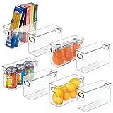 mDesign Juego de 8 fiambreras para Guardar Alimentos en el frigorífico – Organizador de Nevera...