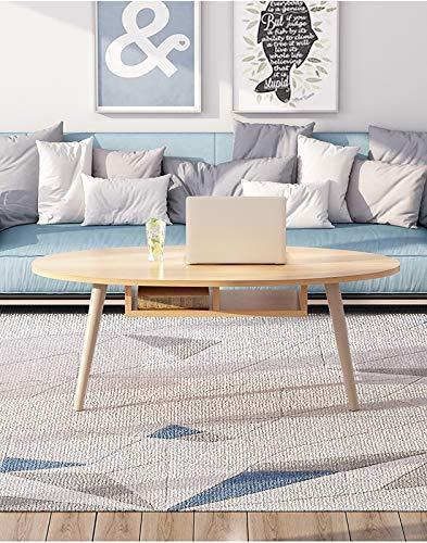 Mesa de centro, con almacenamiento y estante para sala de estar de oficina, muebles modernos, espresso vintage,Beige