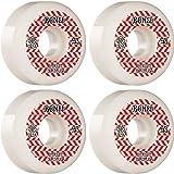 Bones Wheels STF V5 Patterns White/Red Skateboard Wheels - 53mm 103a (Set of 4)