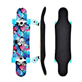 Longboards Skateboard - 31' Pro Small Longboard Carving Cruising Skateboard - for Adult Youth Kid Beginner Girl and Boy (Blue)