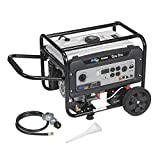 Quipall 5250DF Dual Fuel Gas Portable Generator with Electric Start