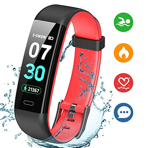 K-berho Fitness Tracker,Activity Tracker with Heart Rate Monitor,Step Counter Watch, Sleep Monitor Tracker,Pedometer Watch,Calorie Counter Watch Waterproof,Smart Fitness Watch for iPhone and Android