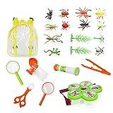 Hinder Kit de exploración al aire libre, 22 piezas para niños aventureros exploración al aire libre equipo educativo conjunto de juguetes