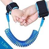 Anti Verlorene Handgelenk Gürtel, 1.5 M/4.92ft Baby Kleinkind Sicherheit Armband Zügel Kind Verbindung Link Leine Harness Elastisches Drahtseil (Blau)