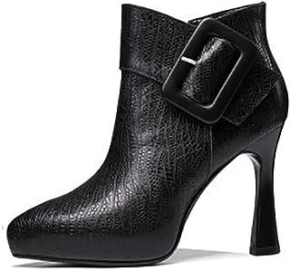 Donne Spessore del Tacco Alto della Piattaforma Mano Stiletti Festa di Nozze Scarpe Sfilata di Moda Invernale più Velluto ...
