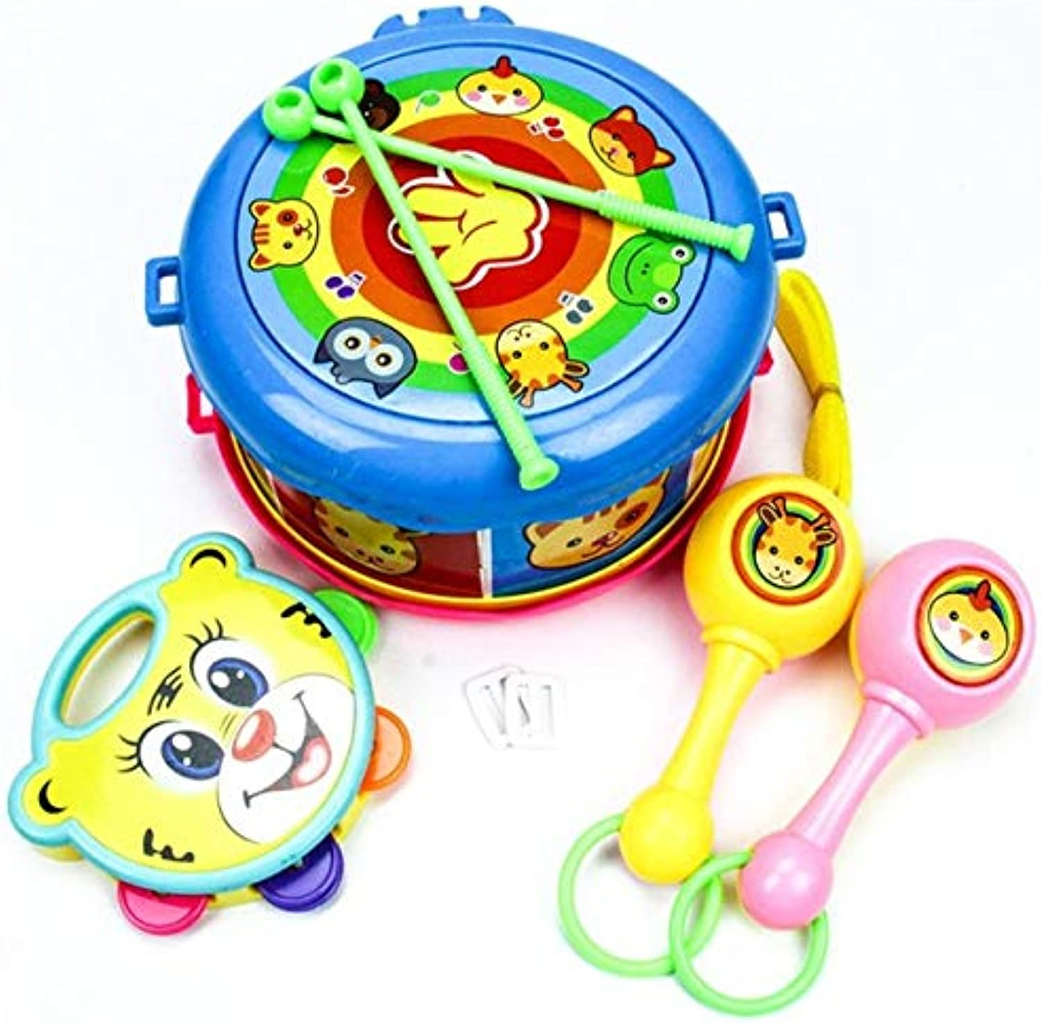 Hot a Set Drum Musical Education Bell Toy Instrument Toy Set Birthday Presents   Multicolor