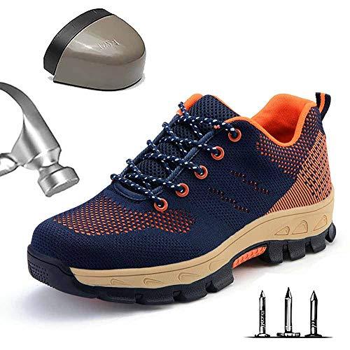 Heren lichtgewicht S3 veiligheidsschoenen werkschoenen sportieve veiligheidsschoenen met stalen neus anti-smashing luchtdoorlatend sneakersneaker hiking schoenen