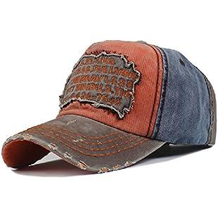 Elwow Men's Distressed Vintage Baseball Cap Snapback Trucker Hat, Outdoor Sports Baseball Hat, Hiking Hat, Running Hat