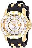 Invicta Men's 6995 Pro Diver Collection GMT Silver Dial Black Polyurethane Watch