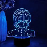 アニメハンター×ハンタークラピカフィギュアナイトライトギフト子供用ホームベッドルームの装飾Ledナイトライト3Dマンガフィギュアテーブルランプ-リモコン