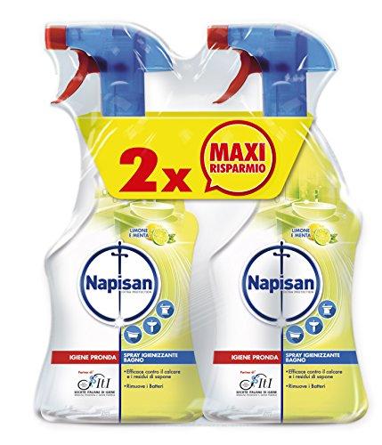 Napisan Bagno limone menta Spray Igienizzante 2 Confezioni da 750 ml