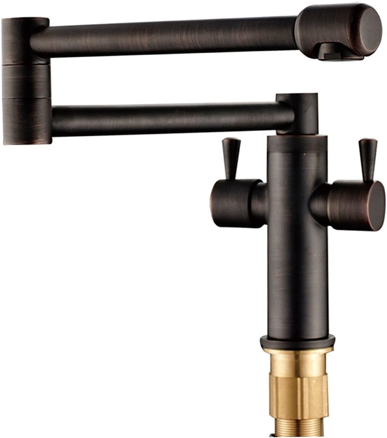 Commercial Single Lever Pull Down Kitchen Sink Faucet Brass Constructed Polished European Antique Faucet Brushed Black Bronze Kitchen Folding Faucet Copper Black Black Antique Basin Faucet