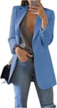 Vrouwen herfst blazer kleur lange mouw werkpak jas dame casual blouse