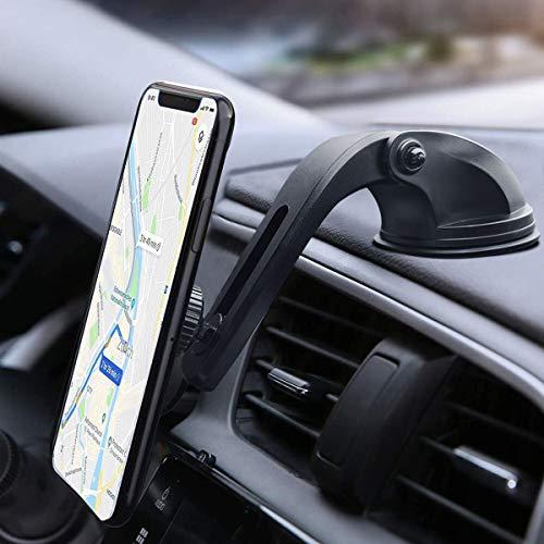 IZUKU Handyhalter fürs Auto Handyhalterung Auto Magnet Armaturenbrett/Windschutzscheibe/Tisch 3 in 1 Universal robust Smartphone Halterung magnet KFZ Handyhalterung für iPhone Samsung HUAWEI oder iPad