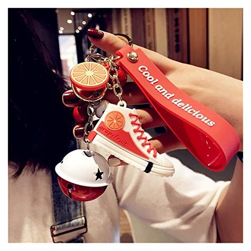 Djujiabh Llavero Mini Zapatos de PVC llaveros Bolso charmo Mujer Hombres niños Llavero Llavero Titular Regalo Elegante Zapatilla de Deporte Llavero (Color : Red)