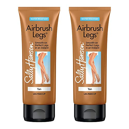 Sally Hansen Airbrush Legs, Leg Makeup Lotion, 4oz, Tan/bronze, 2 Count