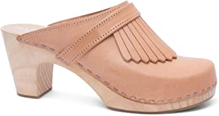 Sandgrens Swedish Clog Mules High Rise Wooden Heel for Women | Venice
