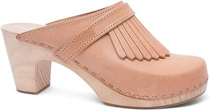 Sandgrens Swedish Clog Mules High Rise Wooden Heel for Women   Venice