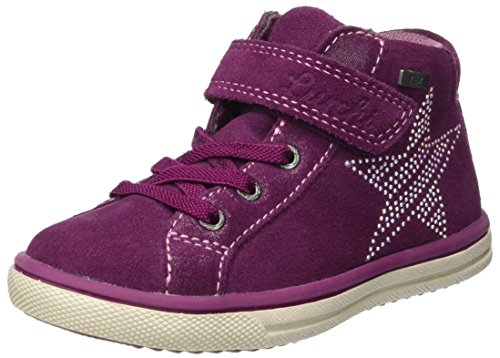 Lurchi Shanty-tex, Chaussons montants fille - Violet (DK.Pink), 34