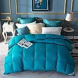 Amazon Brand - Umi piumino invernale in piuma e piumetta, tessuto resistente in 100% cotone, standard OEKO-TEX, 155 x 220 cm, azzurro
