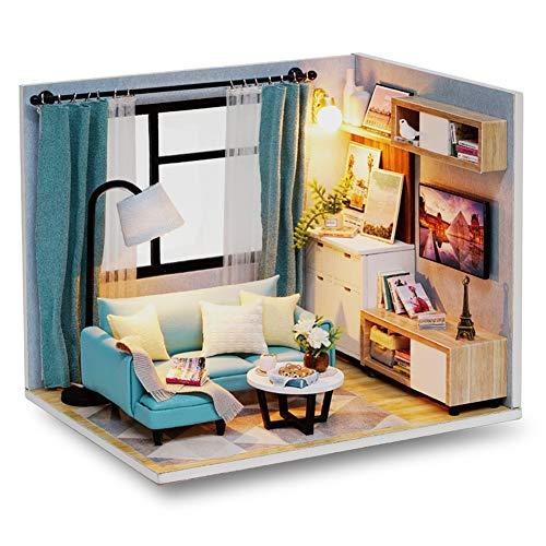 lemogo Cute Room Miniature Furniture Holzhaus-Kit - Für eine Idee, die für Familien und Kinder geeignet ist