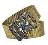 de nailon resistente Quick Release Metal Cobra Buckle Cintur/ón t/áctico para hombre estilo militar entrenamiento ajustable running militar para caza FANSIR