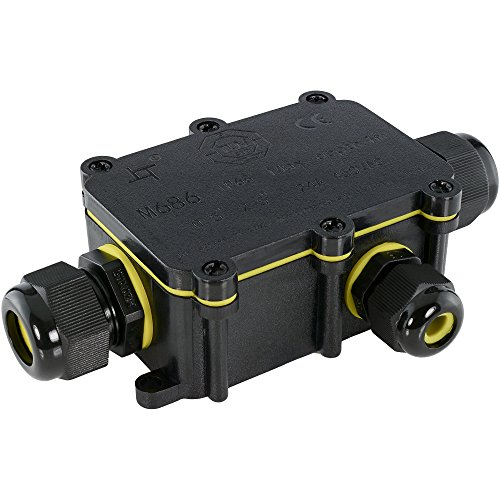 SSC-LUXon® wCable Abzweigdose Klemmdose IP68 Wasserdicht - Verbindungsdose Dosenmuffe Verbindungsbox 5-polig für außen Erdkabel Ø5-12 mm