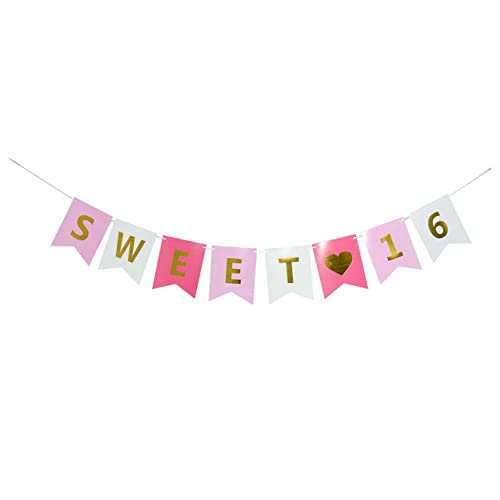 Pink And Gold Sweet 16 Decorations Amazoncom