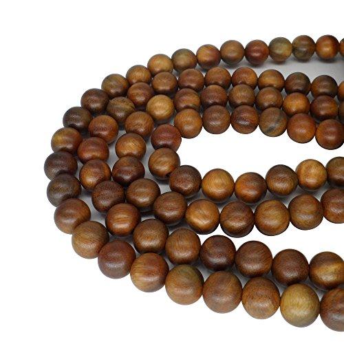 CarpenterC 200 Stücke 10mm Wunderschöne Natürliche Runde Polierte Rosenholz Lose Perlen für Schmuck Machen DIY Handgefertigte Handwerk