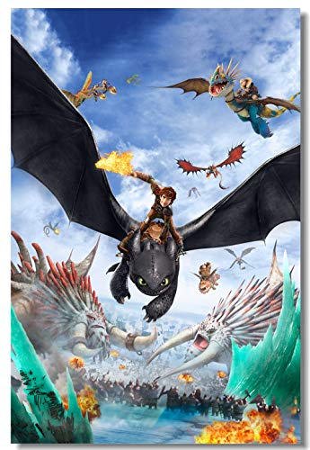 Fototapete Wie Drachenzähmen Poster Nacht Wut Aufkleber Httyd Zahnlos Tapete Büro Dekoration # 0854#