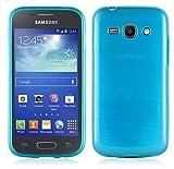 Cadorabo Coque pour Samsung Galaxy ACE 3 en Turquoise – Housse Protection Souple en Silicone TPU avec Anti–Choc et...