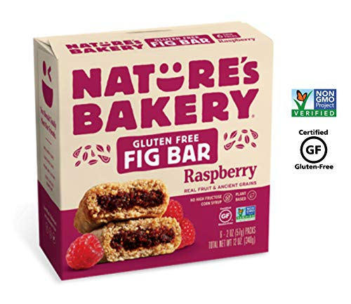 Nature's Bakery Gluten-Free Non-GMO Raspberry Natural Fruit, Ancient Grains Fig Bar: 1 Pk (6 Bars)