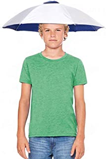 26'' Diameter Fishing Umbrella Hat, Hands Free UV Protection Umbrella Headwear Cap for Youth Teen Girls Boys Hiking Gardening Golf
