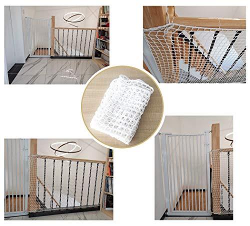 0.8×8.5m Kindersicherung Schienennetz Für Treppen, Kindersichere Treppenschutzgitter Innen, Balkon Sicherheitsschutznetz Für Kinderspielzeug Haustiere, Dekoration Seilnetz
