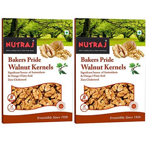 Nutraj Bakers Pride Walnut Kernels (250 Gms*Pack Of 2) - Vacuum Pack