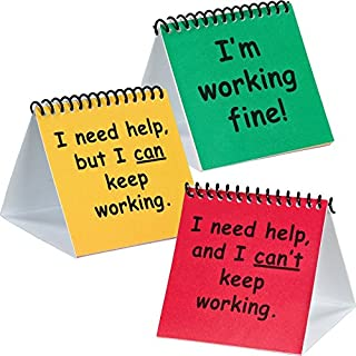 Really Good Stuff 163297 I Need Help Mini Flip Chart Set- Plastic
