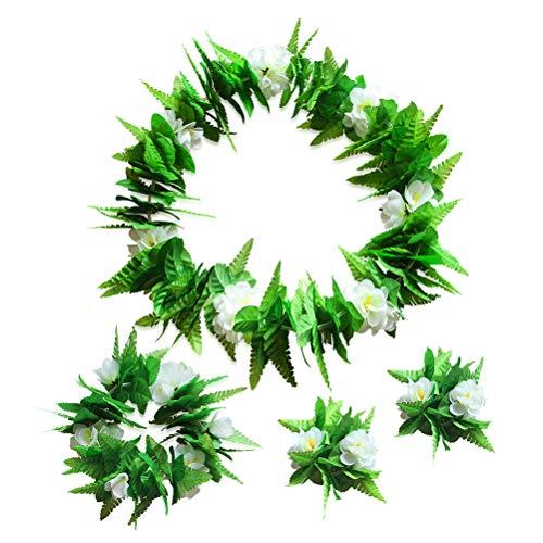 BESTOYARD Hawaiianische Leis Simulation Blumengirlande Blumenkette Armband Kranz Kopfbedeckung Kostüm Zubehör für Party Supplies