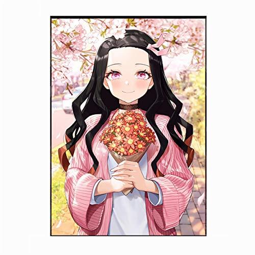 ATggqr Jigsaw Puzzle 1000 Piezas Anime espíritu maligno Guerrero Asesino Personaje Animado Juego Intelectual para Adultos y niños Familiares Brain Challenge Educativos 50x75cm
