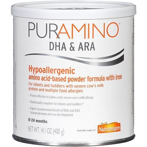 PurAmino DHA/ARA Hypo-Allergenic Powder Formula, Ages 0-24 Months,14.1oz. Per Can