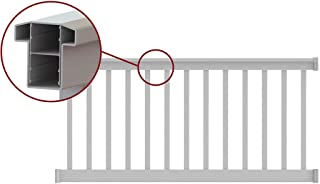 T-Top Level Rail Kit White with Square Ballusters (8 ft. x 36 in.)