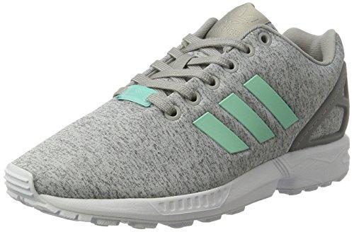 adidas Damen ZX Flux Sneaker, Grau (Medium Grey Heather/Easy Mint/FTWR White), 36 2/3 EU