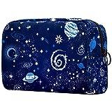 Bolsa de Maquillaje Galaxia Planeta Azul Bolsa Cosmetica Portátil Viaje de Maquillaje Organizador Bolsa de Almacenamiento de Maquillaje 18.5x7.5x13cm