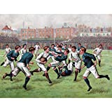 Scotland England 1893 Rugby Football Match Painting Extra