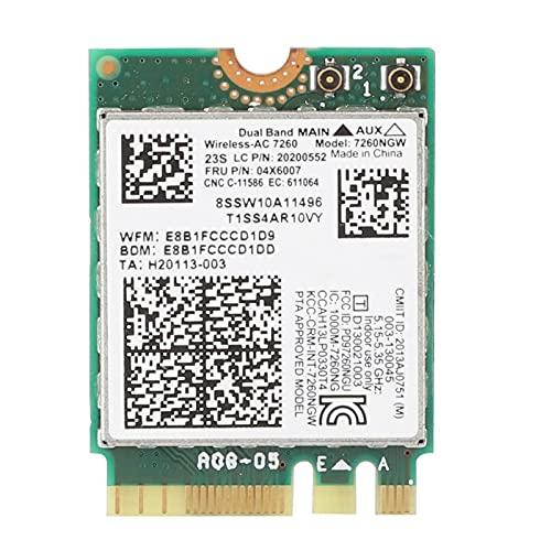 Lazmin112 Tarjeta de Red inalámbrica de Banda Dual, Tarjeta de Red inalámbrica de frecuencia Dual para Intel 7260 AC 867Mbps Especial para Lenovo/ThinkPad La Velocidad de transmisión es 867Mbps