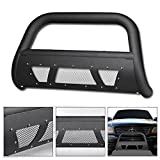 VXMOTOR for 1997-2003 Ford F150 / F250 / 2004 Ford F150 Heritage ; for 1997-2002 Ford Expedition -Matte Black Heavyduty Studded Mesh Bull Bar Brush Push Front Bumper Grill Grille Guard With Skid Plate
