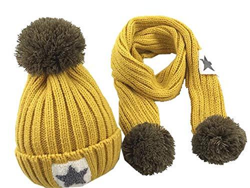 Wamvp Infantil bebé Sombrero y Bufandas de Punto otoño Invierno niños niñas...
