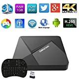 Edal [New Series]DOLAMEE D5 RK3229 Quad-core CPU with 1G DDR3 RAM/8G ROM Android TV Box with 2.4G Mini i8 Wireless Keyboard